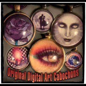 All Original Digital Art Cabochons @larushdesigns